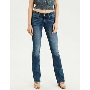 [AEO] 2 Long Kick Boot Slim Flare Dark Wash Jeans